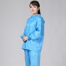 New Hooded Anti-Static Split Protective Clothing Suit Isolated Bacteria Anti-Epidemic Dust-Proof Saliva Unisex Blue XXL(China)