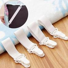 4Pcs/Set Practical Nylon Elastic Cloth Bed Sheet Mattress Blankets Elastic Grippers Fasteners Clip Holder Bed Sheet Fasteners