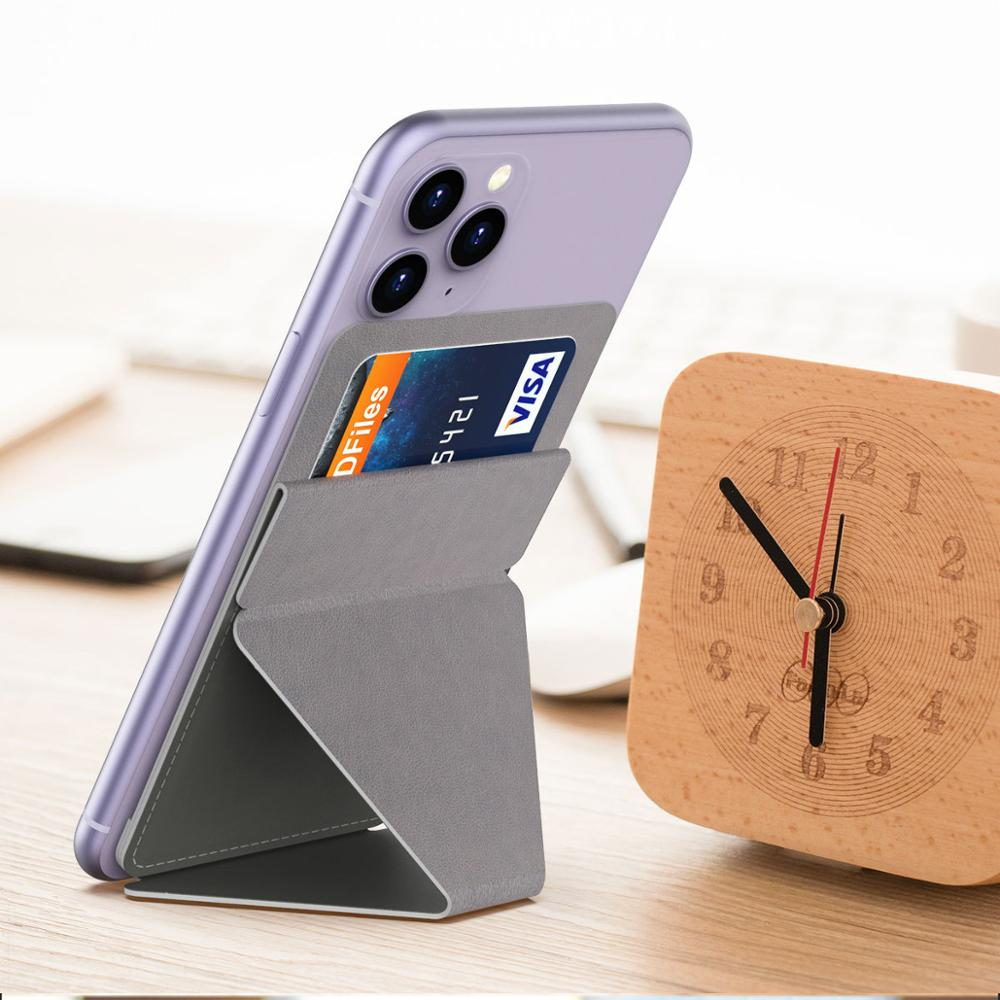 Universal Phone Holder Back Sticker ID Card Cover Foldable For Magnetic Car Finger Ring Stand Credit Case Mobile Phone Stand