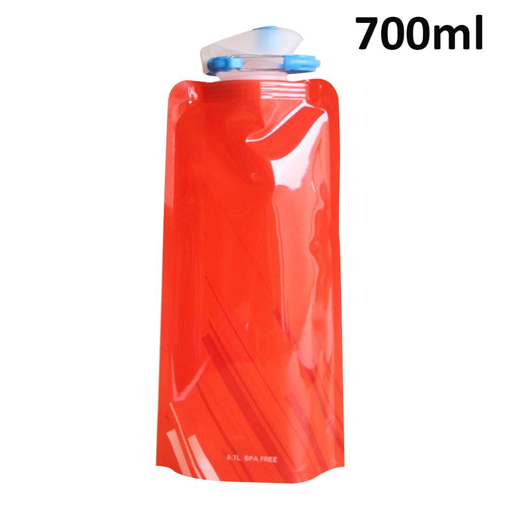 H0540e854abc34b74b757c62e8f231839P 700ml Water Bottle Bags Environmental Protection Collapsible Portable Outdoor Foldable Sports Water Bottles For Hiking Camping