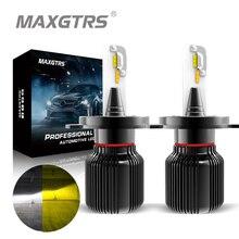 Double couleur H7 LED ampoule H1 H4 H8 H11 9005 9006 CSP voiture antibrouillard Canbus 6500K blanc 3150k or Auto conduite jour lampe de course