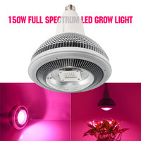 Lámpara de cultivo COB Led de 150W Chip de disipación rápida de calor espectro completo E27 luz LED de cultivo para plantas de interior invernadero hidropónico