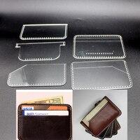 5 шт./партия Акриловые Швейные шаблон DIY кожаный узор ручной работы для сумки для карт Размер 10x7 см