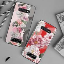 Marca de moda flor ted design baker casos de telefone vidro temperado para samsung s20 plus s7 s8 s9 s10 plus nota 8 9 10 plus