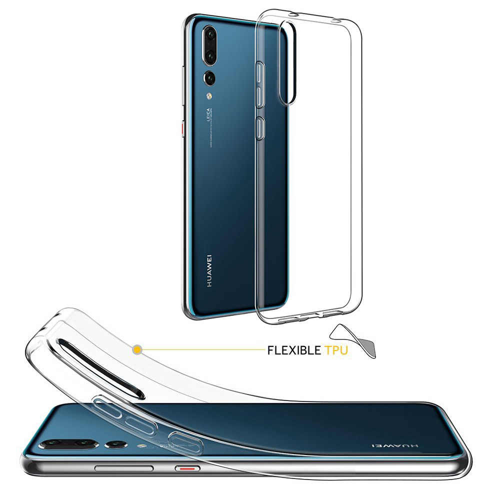 Ultra Dunne Zachte Siliconen Clear Transparent Case voor Huawei P30 Mate 30 20 Pro P20 Lite iPhone 11 Pro X XS Max 7 8 Samsung Cover