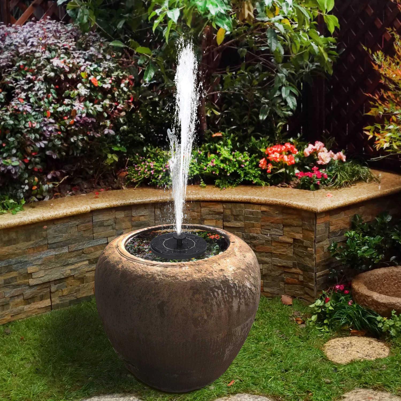6v 1w Solar Powered Fountain Pump Solar Bird Bath Fountain Outdoor Floating Water Fountain Panel Kit For Garden Pond Decoration Fountains Bird Baths Aliexpress