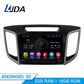 LJDA Android 10 Car dvd player for HYUNDAI IX25 CRETA Car Radio headunit gps navigation stereo multimedia WIFI autoaudio 2G+16G