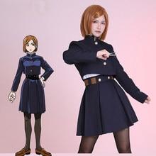 Anime Jujutsu Kaisen Kugisaki Nobara Cosplay Costume Women Outfits Fancy Suit Top Skirt Coat Halloween Carnival Uniforms