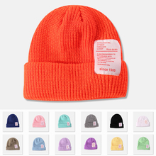 Since 1980 Women's Winter Hats For Women Knitted Cuffed Short Melon Cap Beanie Hat Bonnet Beanies Autumn Gorro A Winter Hat New 2016 new autumn winter star pattern women beanies knitted hat plus velvet warm gorro cap