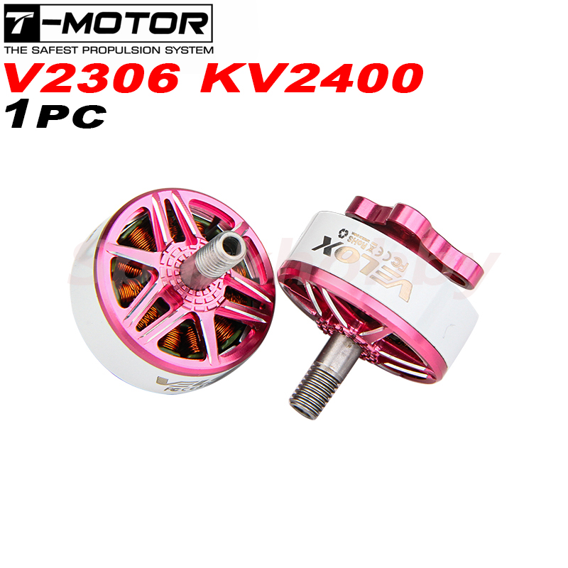 1PC TMOTOR V2306 KV2400 FPV Motor VELOX Series Original New White And Pink For FPV Drones Freestyle Aircraft RC Models
