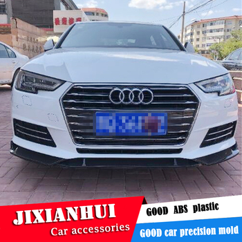 For Audi A4 Body kit spoiler 2016-2018 For Audi A4 SC ABS Rear lip rear spoiler front Bumper Diffuser Bumpers Protector