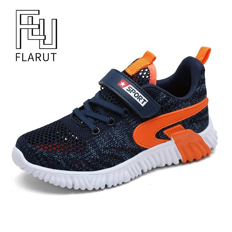 Kid Running Sneakers Summer Boys Sport Shoes Tenis Infantil Double Network Breathable Girls Chaussure Enfant Big Size 29-40 Blue