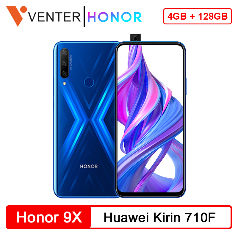 In Stock Global Version Honor 9X Smartphone 4G 128G 48MP Triples Camera 6.59'' Screen Mobile Phone Android 9 OTA Google Play