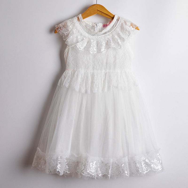 H05427da35796468eb4df13afc8f4c1d7d Girls Dress 2019 New Summer Brand Girls Clothes Lace And Ball Design Baby Girls Dress Party Dress For 3-8 Years Infant Dresses