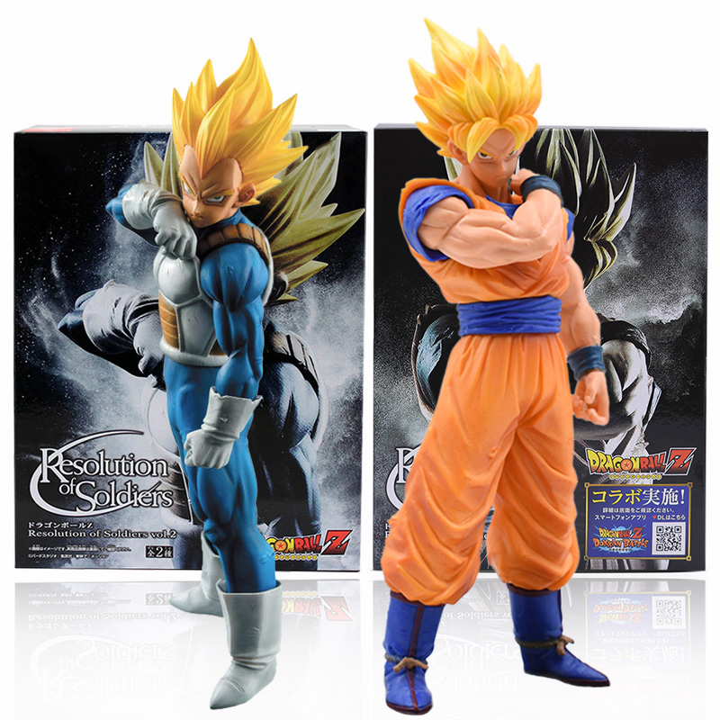 15-21cm Dragon Ball Z Goku Vegeta Action Figure Super Saiyan Son Gokou PVC Collection Model Toys For Christmas Gift With Box