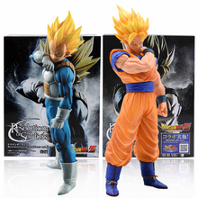 dragon ball z resolution of soldiers vol 1 son gokou vol 2 vegeta pvc collectible model 20 21cm kt3949 15-21cm Dragon Ball Z Goku Vegeta Action Figure Super Saiyan Son Gokou PVC Collection Model Toys For Christmas Gift With Box
