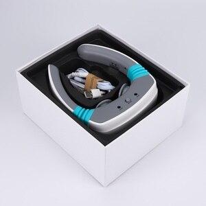 Image 2 - Elektrische puls Akupunktur Neck massager gesundheitsnackenkissen therapie gerät Aufladen patch massage Drahtlose Fernbedienung