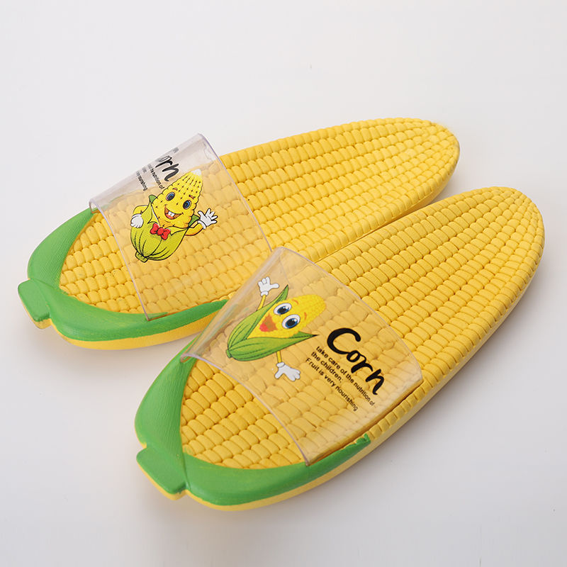 Creative Corn Women Slipper  Flat Heel Flip Flop Non-slip  Indoor Bathroom Non Slip Sandals House Shoes Zapatos De Mujer TX99