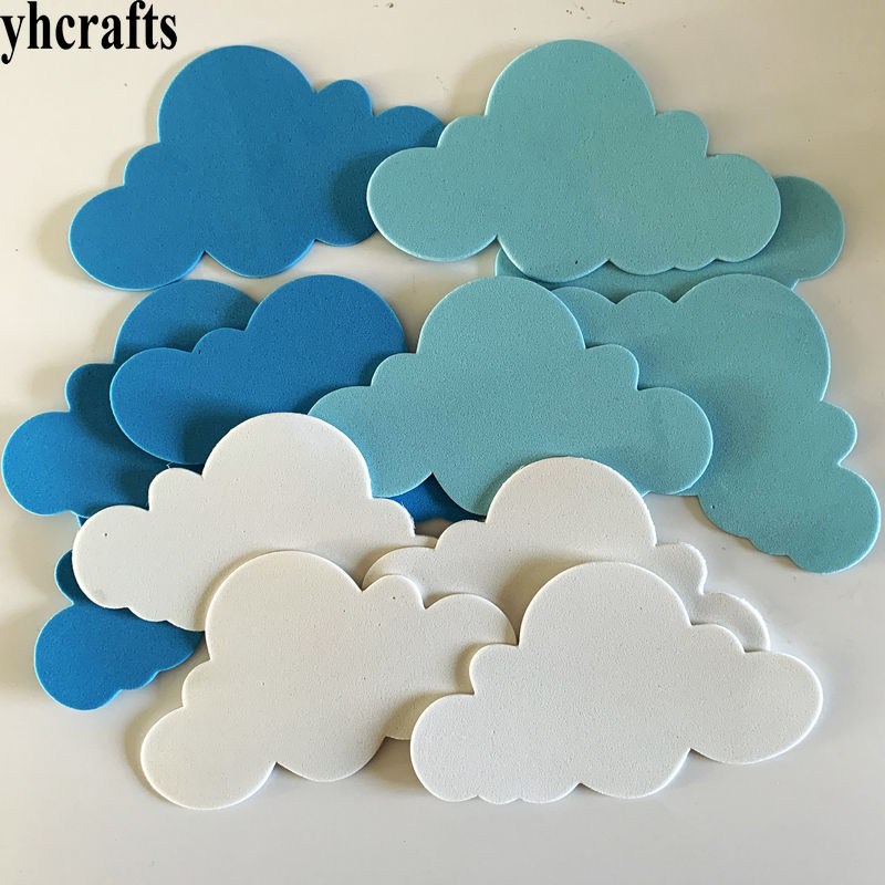 12PCS/LOT.Foam Cloud Without Stickers Early Learning Educational Intelligence Diy Toys Wall Book Ornament Kids Diy Toys OEM