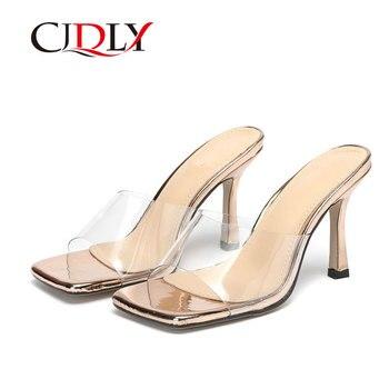 CJDLY nuevos zapatos de tacón alto de punta cuadrada sandalias de mujer...