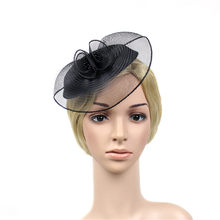Fascinator Hut Frauen Blume Mesh Bänder Federn Fedoras Hut Stirnband Oder EIN Clip Cocktail Tee Party Headwewar Für Mädchen(China)