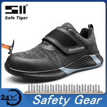 Size 37-48 Mesh Safety Shoes With Steel Toe Men Breathable Work Shoes Construction Protective Footwear