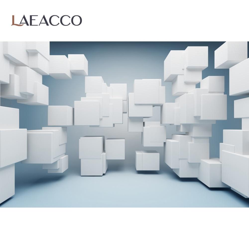 Уникальные 3D фотофоны Laeacco с кирпичной стеной и подушкой, квадратный куб, коробка для портрета, фотостудия