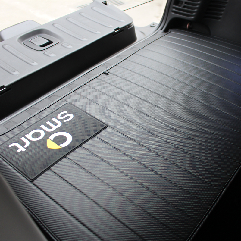 Car Rear Tail Box Anti-dirty Pad For Mercedes Smart Fortwo453 451 Carbon Fiber Pattern Black Trunk Mat Car Shape Auto Parts