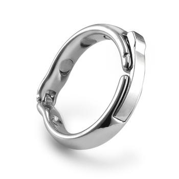 Magnes Cock Ring dla mężczyzn penisa erekcja Sex zabawki metalowe pierścienie żołędzi intymne towary pierścień na penisie tanie i dobre opinie AB2033 Penis pierścionki Metal Magnet Penis rings Penis rings For Men Extender Condoms Metal Penis enlargement condoms