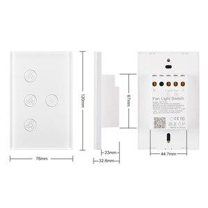 Image 3 - Wifi Smart Plafond Ventilator Licht Wandschakelaar Leven Tuya App Remote Diverse Snelheidscontrole Interruptor Compatibel Voor Alexa Google Thuis