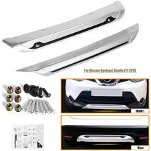 2 stücke Vorderen und Hinteren Stoßfänger Skid Schutz-schutz-platte Für Nissan Qashqai Dualis J11 2014 2015 2016 2017