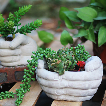Cement flowerpot mold hand creative modeling flowerpot silicone mold Concrete crafts place a plant pot silicone molds handmade flowerpot making silicone cement molds for clay concrete diy pot mold