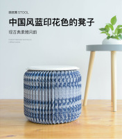 18 paper stool Chinese style display furniture environmental protection stool folding can store blue printing high pretend bilit