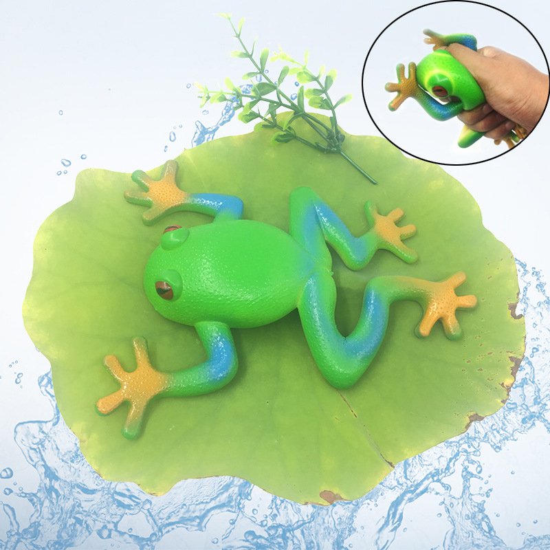 2pcs/lot TPR Simulated Stretch Frog Animal Action Figures Anti Stress Vent Props Learning Education Toys For Children Gift