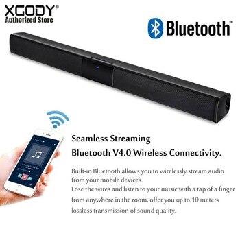 XGODY BS-28A casa teatro Bluetooth barra TV estéreo con Supergraves altavoz altavoces de sonido para la música de la película de 21,65 pulgadas
