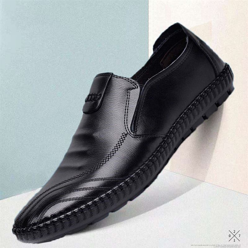 Handmade Genuine Leather Men Shoes Sping Autumn Business Fashion Men Casual Shoes, Brand Shoes Fashion Loafers Walking Footwear