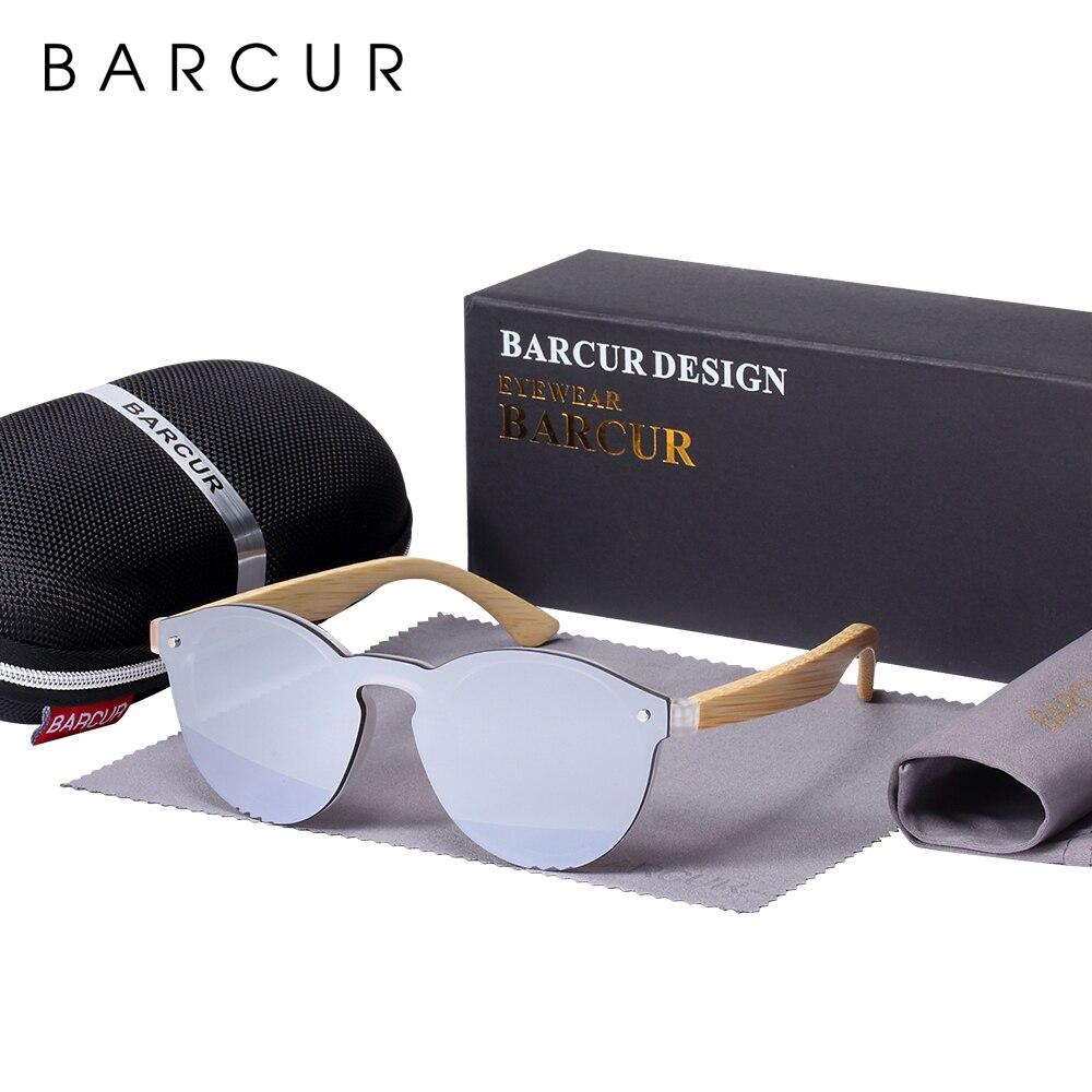 Солнцезащитные очки BARCUR для мужчин, бамбуковые очки для кошачьих глаз, красные очки для рыбалки