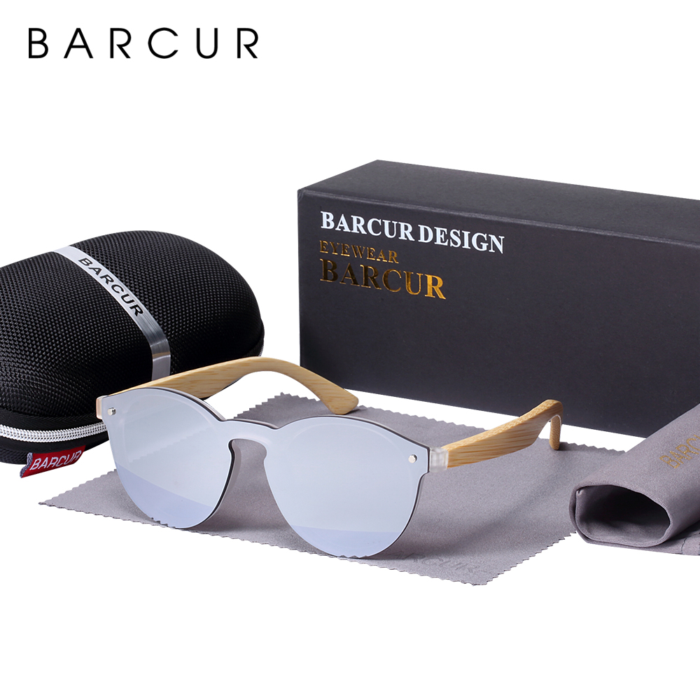BARCUR Cat Eye Sunglasses Bamboo Men New Cat Eye Glasses pra Sun glasses for women Googles Red Sunglasses Fishing Eyewear