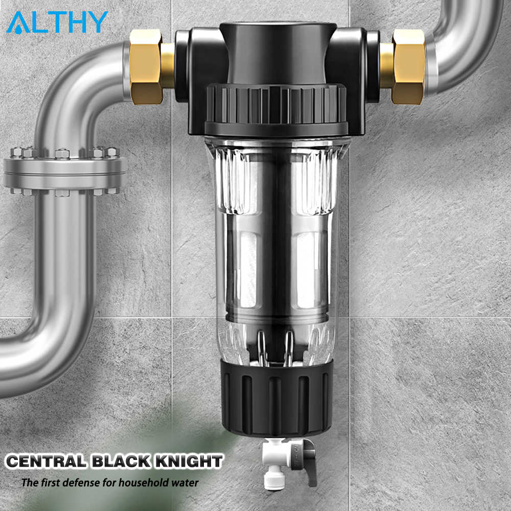 Althy Central Pre Filter Seluruh Rumah Air Filter Sistem Pembersih 3T Siphon Backwash 40um 316 Stainless Steel Mesh Digunakan -Filter