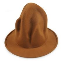 New Fashion Women Men 100% wool  Mountain Hat Pharrell Williams Wasten Celebrity Style Party Novelty Buffalo hat