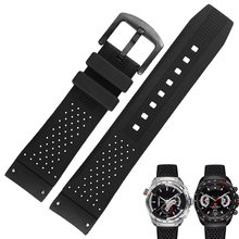 CASIOsilicone Watchband for wristband 22mm Waterproof rubber strap with stainless steel buckle bracelet new 22mm top grade brushed stainless steel watchband bands strap with double push clasp buckle for mens strap bracelet