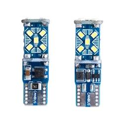 2PCS W5W T10 Canbus LED Light Bulb Car Wedge Parking Light Interior Bulb Reading Map Dome Lamp 12V 6000K 2016 SMD 15 Chips