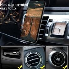 Автомобильный кронштейн, универсальный держатель для телефона, 360 градусов, автомобильный держатель на вентиляционное отверстие, подставка, вращение, магнитное кольцо на палец, кронштейн для телефона