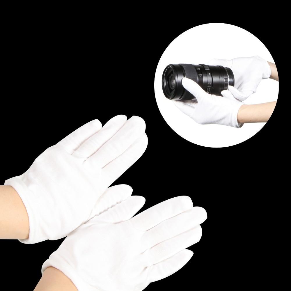 1 пара белых перчаток для фотосъемки с защитой от отпечатков пальцев