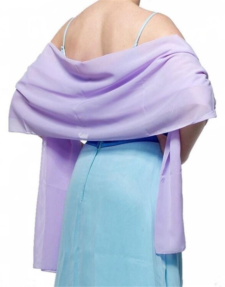 Women's Chiffon Long Scarf Cape Shawl Wedding Party Cover Arm Cape Shawl 2020 Wedding Shawl VS42