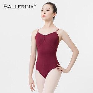 Image 3 - Ballet prática collant feminino dança traje sling dança preto collant adulto meninas ginástica collant bailarina 5078