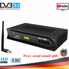 Full HD 1080P H.264 Digital TV Tuner DVB-S2 V6 Super Mini Satellite Receiver AC3 Youtube WIFI Bisskey For Satellite Decoder