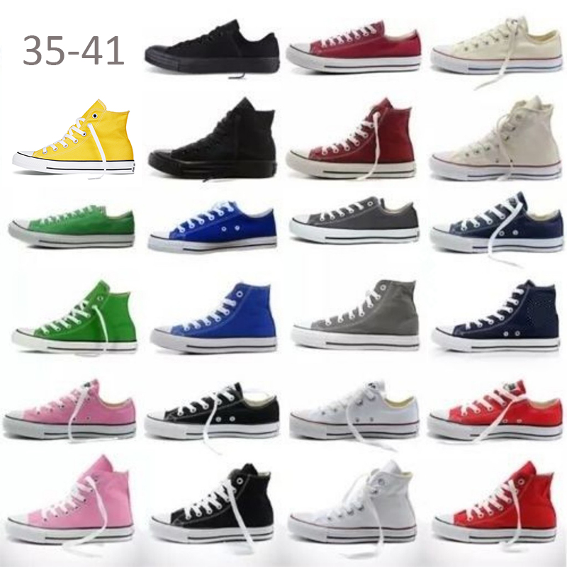 Athletic-Sneakers Canvas-Shoes Allstar Classic High-Top Chuck-Taylor Girls Designer Womens
