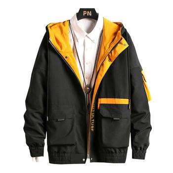 Nowe kurtki mężczyźni moda wiatrówka hiphopowa płaszcze casualowa kurtka mężczyźni Cargo Bomber męskie kurtki płaszcze znosić Streetwear hurtownia tanie i dobre opinie USCLOTHING A6X9Y zipper Kurtki płaszcze 2041502NBA40WEC8S9D9E REGULAR STANDARD NONE Poliester Stałe Kieszenie Na co dzień