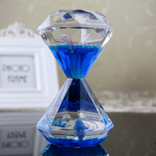 Youda New Creative Design Diamond shape oil hourglass stress reliever oil sand timer best birthday gift  oil hourglass youda new creative design diamond shape oil hourglass stress reliever oil sand timer best birthday gift oil hourglass